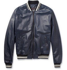 Dolce & Gabbana Leather Varsity Jacket