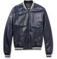 Dolce & Gabbana - Leather Varsity Jacket