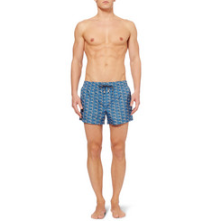 Dolce & Gabbana Short-Length Swordfish-Print Swim Shorts