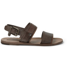 Dolce & Gabbana Burnished-Leather Sandals