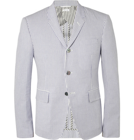 Thom Browne Slim-Fit Cotton-Seersucker Blazer