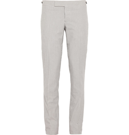 Thom Browne Cotton-Seersucker Trousers