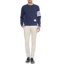 Thom Browne Printed Loopback Cotton-Jersey Sweatshirt