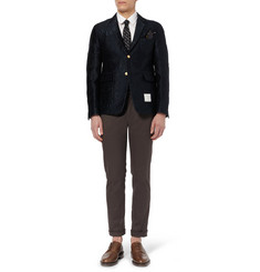 Thom Browne Tattoo Jacquard Unstructured Jacquard Blazer
