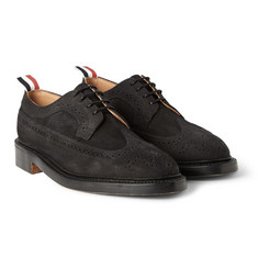 Thom Browne Pebble-Grain Nubuck Longwing Brogues