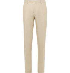 Etro Slim-Fit Striped Woven-Linen Trousers