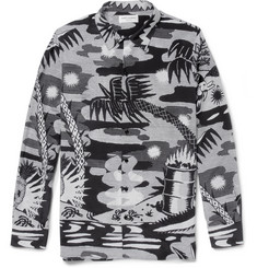 Saint Laurent Printed Silk Shirt