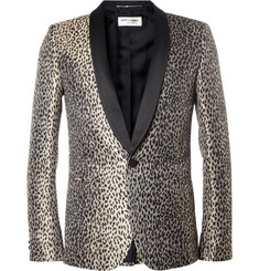 Saint Laurent Baby Cat-Patterned Tuxedo Jacket