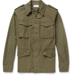 Saint Laurent Cotton and Linen-Blend Field Jacket