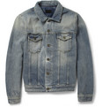 Saint Laurent Slim-Fit Washed-Denim Jacket