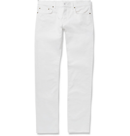 Saint Laurent Slim-Fit 17.5 Hem Dry-Denim Jeans