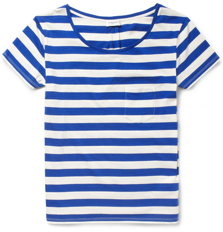 Saint Laurent Striped Cotton-Jersey T-Shirt