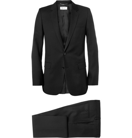 Saint Laurent Black Slim-Fit Wool Suit