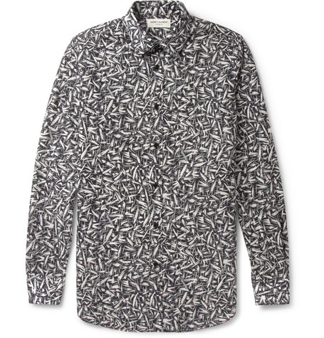 Saint Laurent Slim-Fit Printed Cotton Shirt