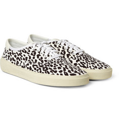Saint Laurent Baby Cat-Print Sneakers