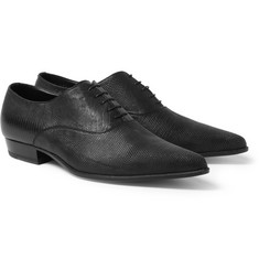 Saint Laurent Pointed Lizard Oxford Shoes