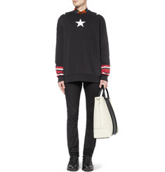 Givenchy Star-Print Striped Cotton Sweatshirt