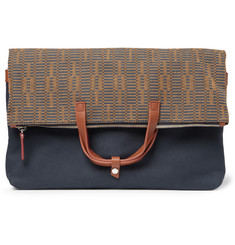 WANT Les Essentiels de la Vie Peretola Foldable Leather-Trimmed Canvas Pouch