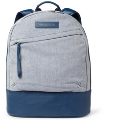 WANT Les Essentiels de la Vie Kastrup Leather-Trimmed Canvas Backpack