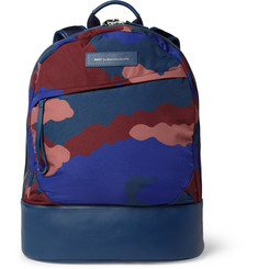 WANT Les Essentiels de la Vie Kastrup Leather-Trimmed Printed Canvas Backpack