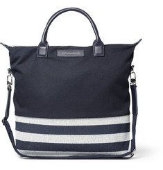 WANT Les Essentiels de la Vie O'Hare Leather-Trimmed Panelled Canvas Tote Bag