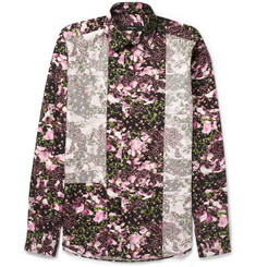 Givenchy Camo Flower-Print Panelled Shirt