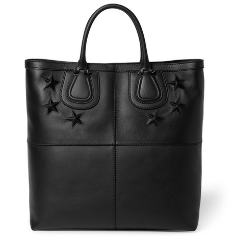 Givenchy Star-Embossed Leather Nightingale Tote
