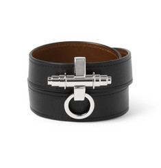 Givenchy 3 Row Obsedia Leather Bracelet