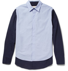 Marni Double-Layered Cotton-Poplin Shirt