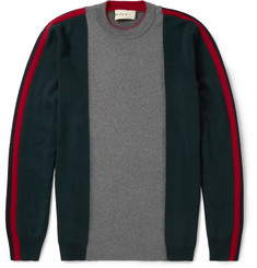 Marni Panelled Virgin Wool Sweater