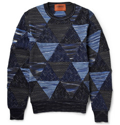 Missoni Patchwork Cotton and Wool-Blend Sweater
