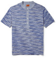 Missoni Striped Cotton-Jersey and Chambray Henley T-Shirt