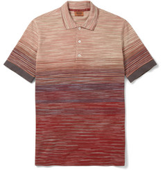 Missoni Striped Knitted-Cotton Polo Shirt