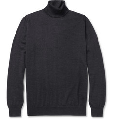 John Smedley Judson Cashmere and Silk-Blend Rollneck Sweater