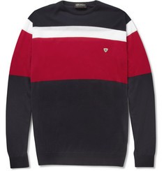 John Smedley Steele Striped Sea Island Cotton Sweater