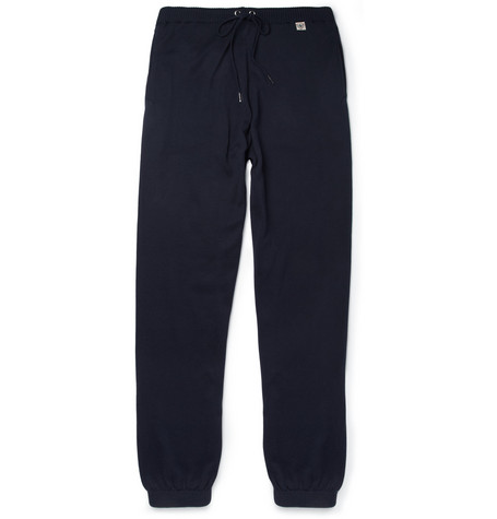 John Smedley Dane Knitted-Cotton Sweatpants
