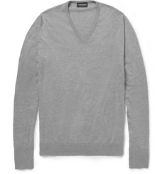 John Smedley Brock V-Neck Sea Island Cotton Sweater