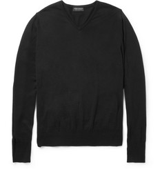 John Smedley Brock Knitted Sea Island Cotton Sweater