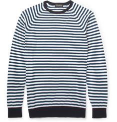 John Smedley Longnor Striped Sea Island Cotton Sweater