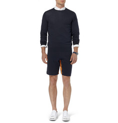 John Smedley Calder Colour-Block Sea Island Cotton Shorts
