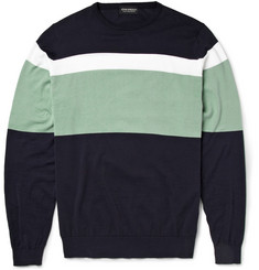 John Smedley Gabe Striped Cotton Sweater