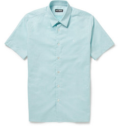 Raf Simons Short-Sleeved Cotton and Linen-Blend Shirt