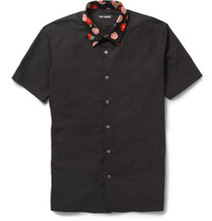 Raf Simons Slim-Fit Contrast-Collar Cotton Shirt