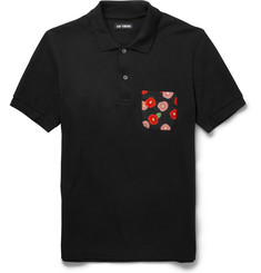 Raf Simons Slim-Fit Contrast-Pocket Cotton-Pique Polo Shirt