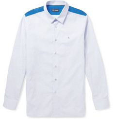 Raf Simons Slim-Fit Contrast-Yoke Cotton Shirt