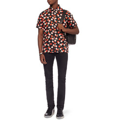 Raf Simons Short-Sleeved Printed Cotton Shirt