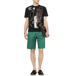Raf Simons Embellished Cotton-Jersey T-Shirt