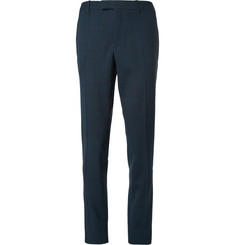 Raf Simons Slim-Fit Check Wool-Blend Trousers