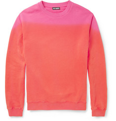 Raf Simons Two-Tone Loopback Cotton-Jersey Sweater