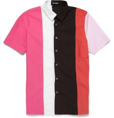 Raf Simons Slim-Fit Panelled Cotton Shirt